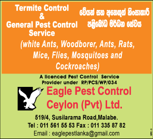 Pest Control - Eagle Pest Control Ceylon (Pvt) Ltd