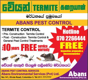 Pest Control - Ad (04) - Abans Environmental Services Pestcontrol