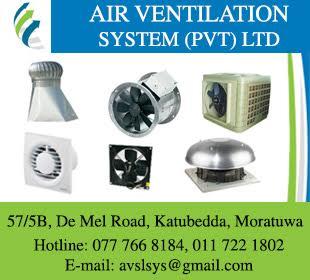 Ventilating Equipment - Air Ventilation Systems (Pvt) Ltd