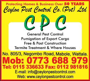 Pest Control - Ad 05 - Ceylon Pest Control Co