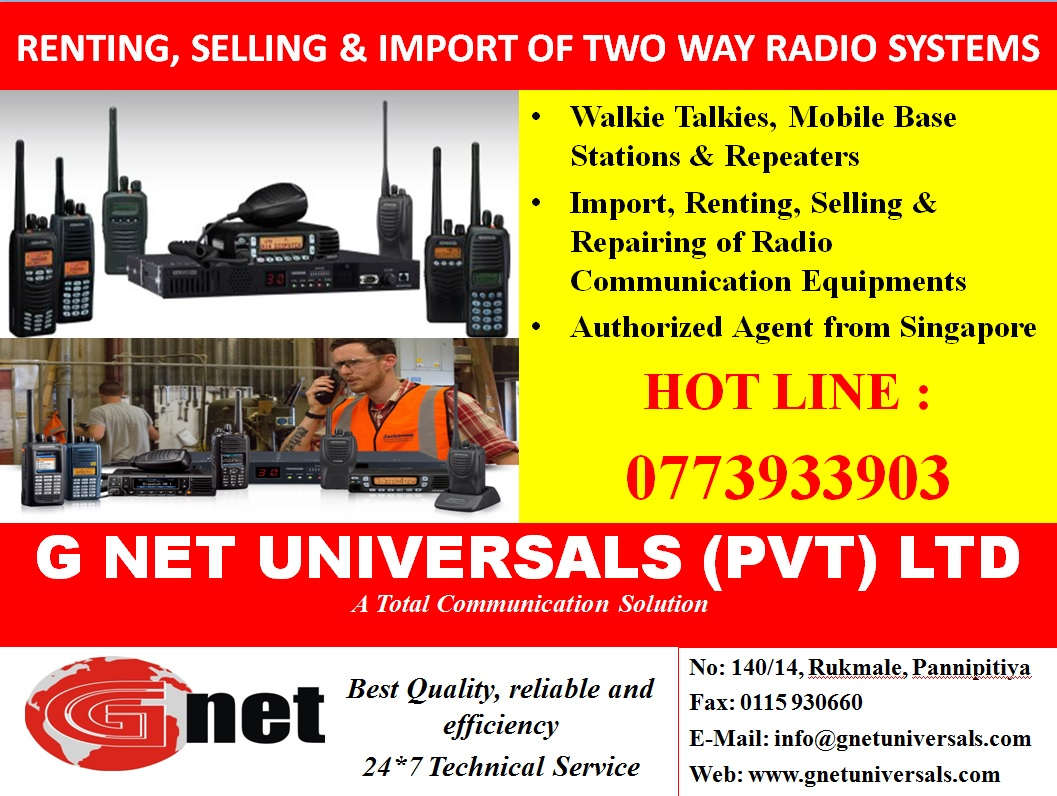 Radio Communication Equipment & Systems - Ad 01 - GNet Universal