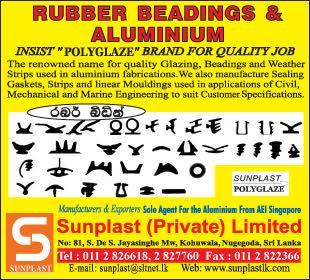 Rubber Products - Ad 01 - Sun plast Aluminium Fabricators