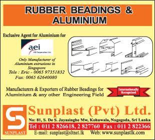 Aluminium Fabricators - Ad 01 - Sunplast rubber products