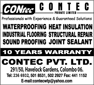 Water Proofing Contractors - Contec (Pvt) Ltd