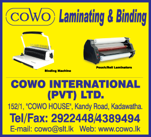 Laminating Suppliers & Equipment - Cowo International (Pvt) Ltd