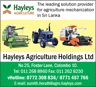 Tractor Dealers-Hayleys Agriculture Holdings LTD