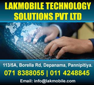Software Developers - Lakmobile Technology Solutions (Pvt) Ltd