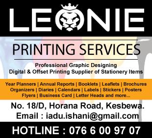 Printers - Leonie Printing Services