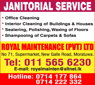 Janitors Supplies - Royal Maintenance (Pvt) Ltd