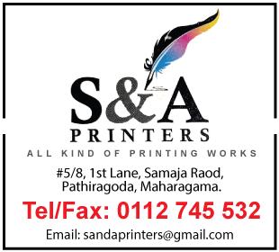 Printers - S & A Printers