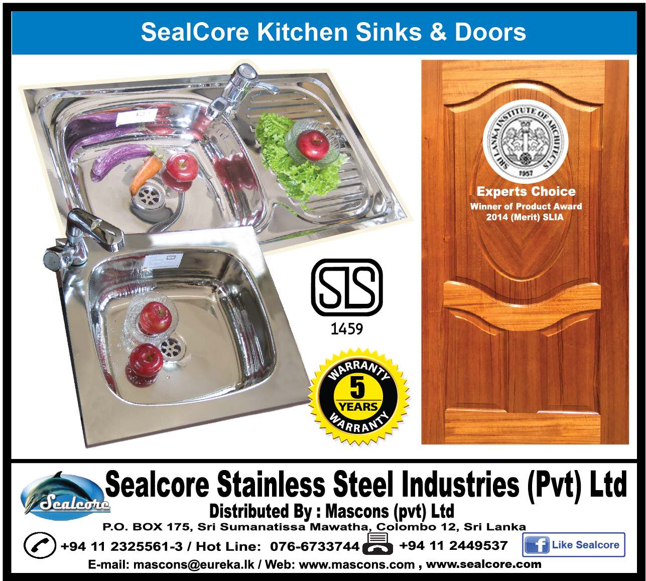 Hotels - Sealcore Stainless Steel Industries (Pvt) Ltd - Sanitaryware