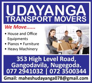 Movers - Udayanga Transport Movers