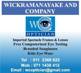 Optician - Wickramanayake & Company Optician