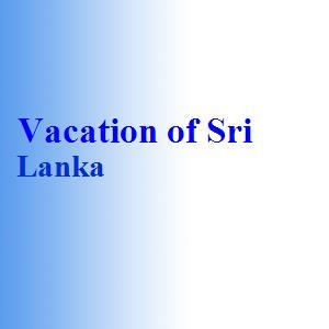 Vacation of Sri Lanka